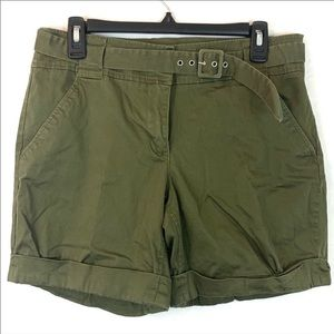 New York & company Green Cargo Shorts